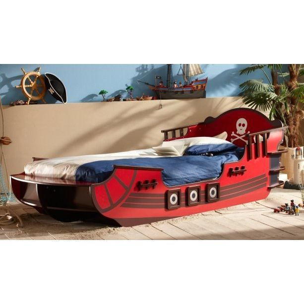 lit pirate 90 x 190 cm crazyshark achat vente structure de lit cdiscount. Black Bedroom Furniture Sets. Home Design Ideas