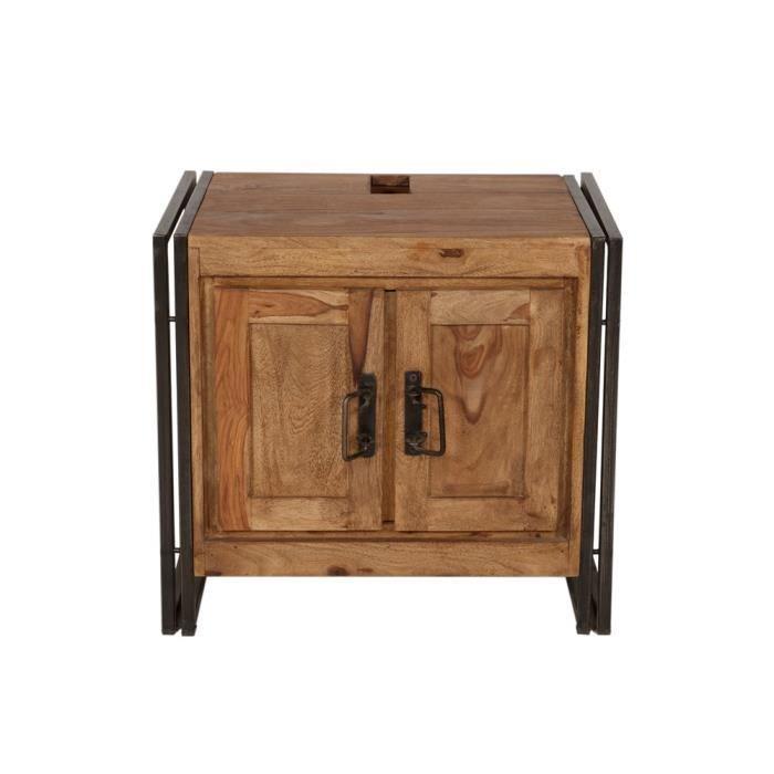 meuble sous evier panama shesham bicolore achat vente meuble sous vier meuble sous evier. Black Bedroom Furniture Sets. Home Design Ideas