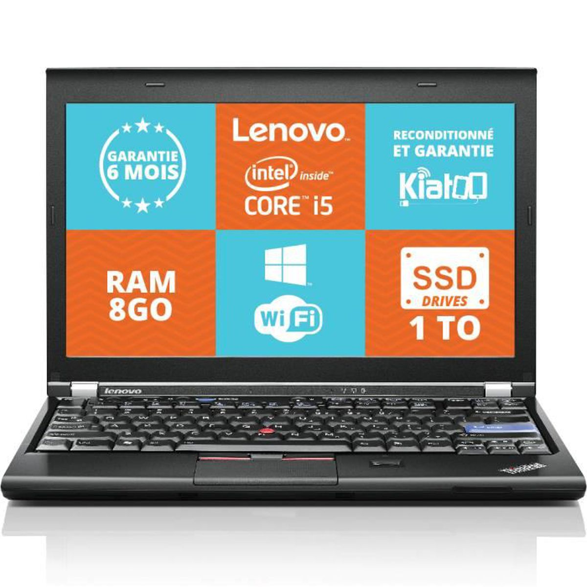 ordinateur portable lenovo thinkpad x220 ultrabook intel core i5 8go ram 1to ssd drives disque. Black Bedroom Furniture Sets. Home Design Ideas