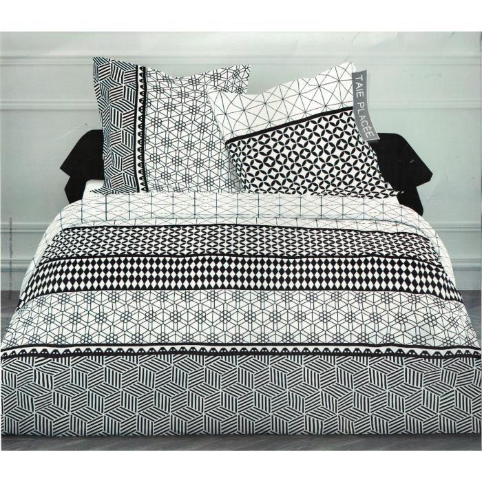 parure de lit housse de couette parure de couette 220x240 achat vente housse de couette. Black Bedroom Furniture Sets. Home Design Ideas