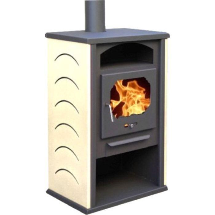 po le bois chamonix ivoire 12 kw pour b ches achat vente po le insert foyer po le. Black Bedroom Furniture Sets. Home Design Ideas
