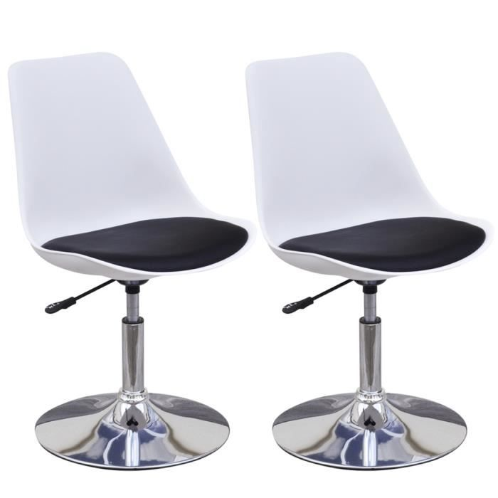 Lot de 2 chaises noir et blanc achat vente lot de 2 chaises noir et blanc pas cher cdiscount - Chaise noir et blanc pas cher ...