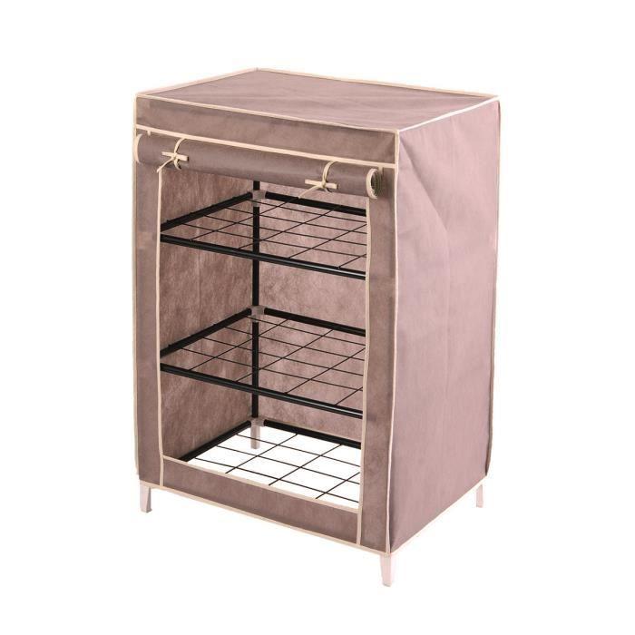 armoire en m tal taupe 85cm achat vente armoire de. Black Bedroom Furniture Sets. Home Design Ideas
