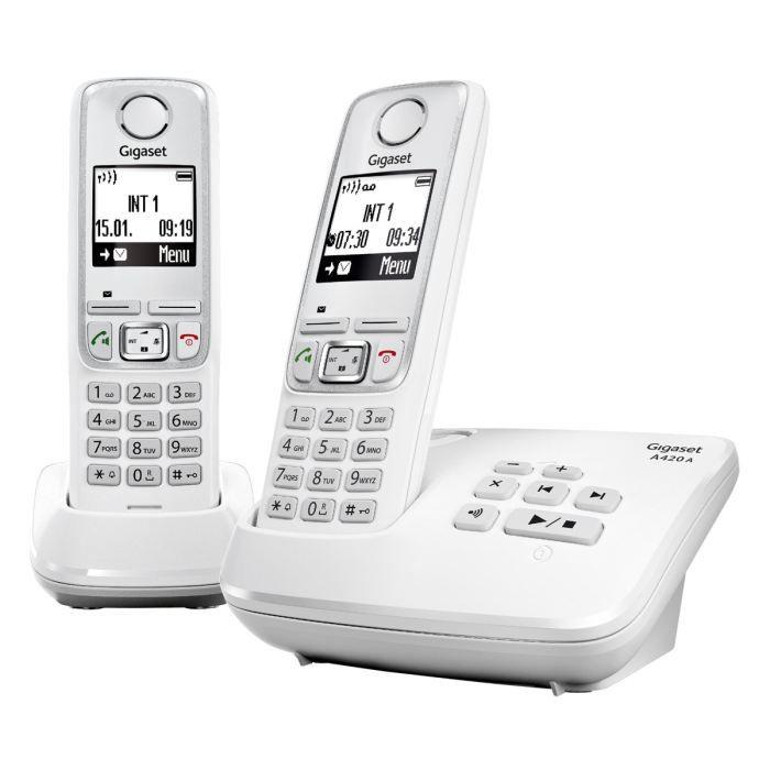 Téléphone fixe GIGASET A420A DUO Blanc