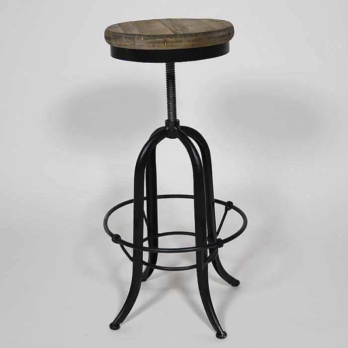 tabouret de bar sur pivot bois achat vente tabouret. Black Bedroom Furniture Sets. Home Design Ideas