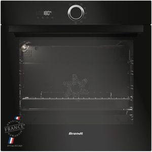 BRANDT BXP5560B - Four électrique encastrable multifonction chaleur tournante - 68L - Pyrolyse - A - Noir