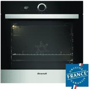 BRANDT BXP5560X - Four électrique encastrable multifonction chaleur tournante - 68L - Pyrolyse - A - Inox