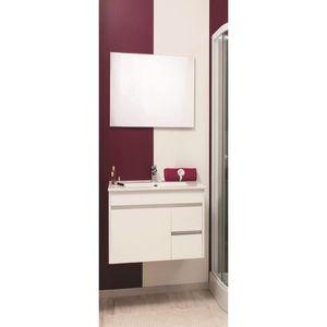 MEUBLE VASQUE - PLAN NINA Ensemble meuble de salle de bain 60cm - Blanc