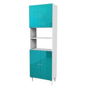 meuble salle de bain bleu - achat / vente meuble salle de bain ... - Meuble Salle De Bain Bleu Turquoise