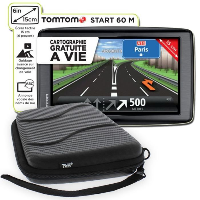 gps tomtom start 60 m europe housse t 39 nb achat vente gps auto tomtom start 60 m housse. Black Bedroom Furniture Sets. Home Design Ideas