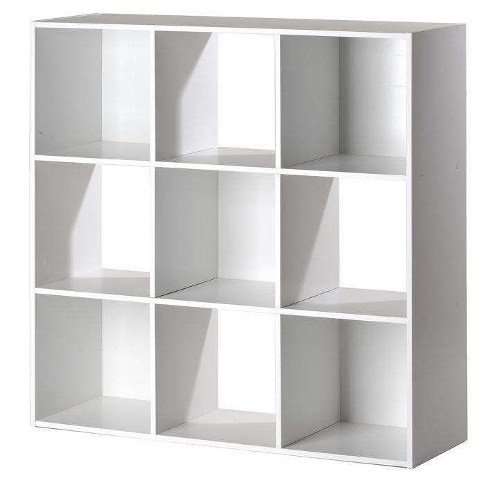 Cube de rangement 9 niches blanc achat vente boite de - Meuble cube de rangement ...