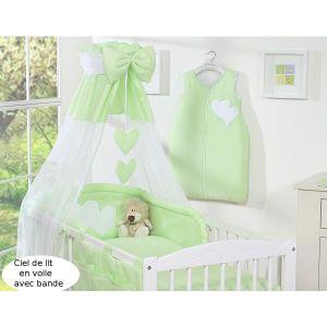 ciel de lit vert achat vente ciel de lit vert pas cher. Black Bedroom Furniture Sets. Home Design Ideas