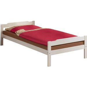lit simple achat vente lit simple pas cher cdiscount. Black Bedroom Furniture Sets. Home Design Ideas