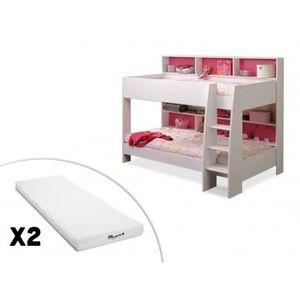 Lit superpose avec matelas achat vente lit superpose avec matelas pas che - Lit superpose pas haut ...