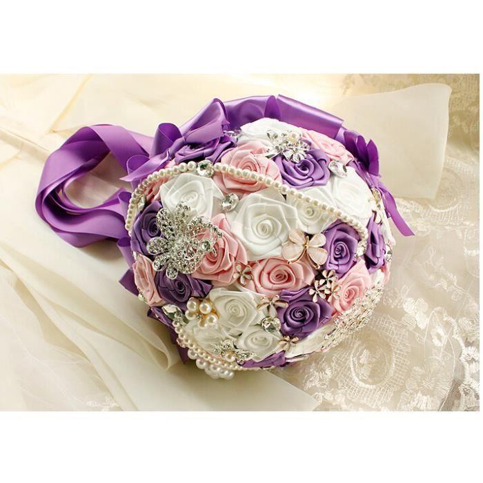 meilleur cadeau pour votre mari e fleurs mariage bouquet la main diamant perle strass achat. Black Bedroom Furniture Sets. Home Design Ideas