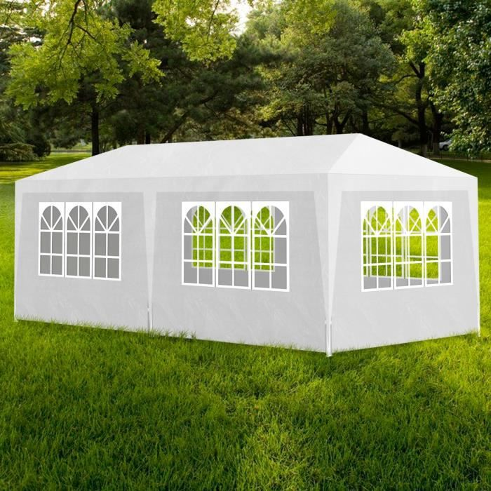 tonnelle 3x6 m couleur blanc achat vente tonnelle. Black Bedroom Furniture Sets. Home Design Ideas