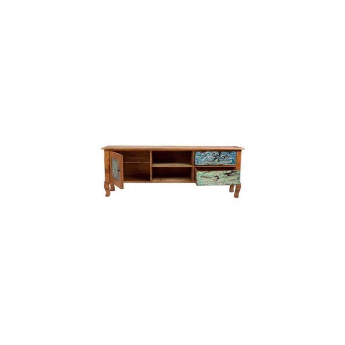 meuble tv bois recycl color vical home dimen achat vente meuble tv meuble tv bois. Black Bedroom Furniture Sets. Home Design Ideas