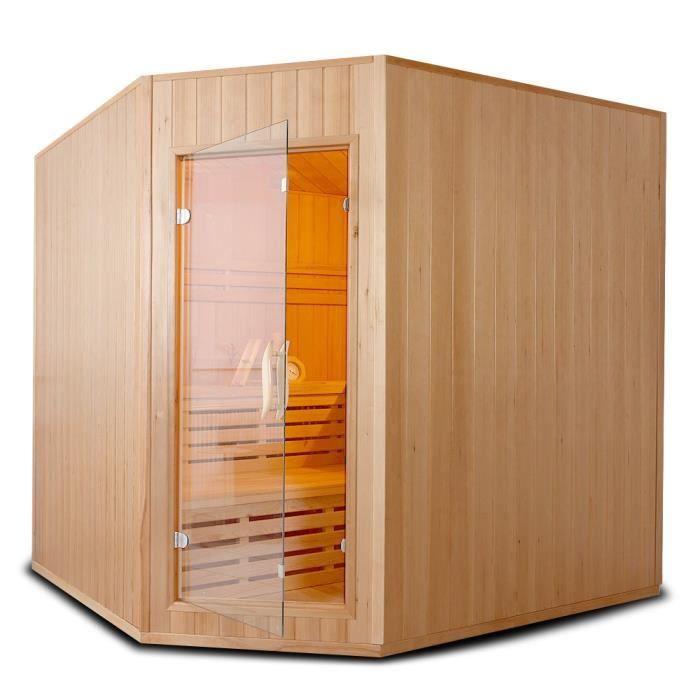 cabine sauna 6places 200x200x200cm achat vente entretien hammam cabine sauna cdiscount. Black Bedroom Furniture Sets. Home Design Ideas