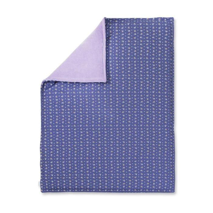 Couverture molletonn e b b en coton biologique violet - Couverture en coton ...