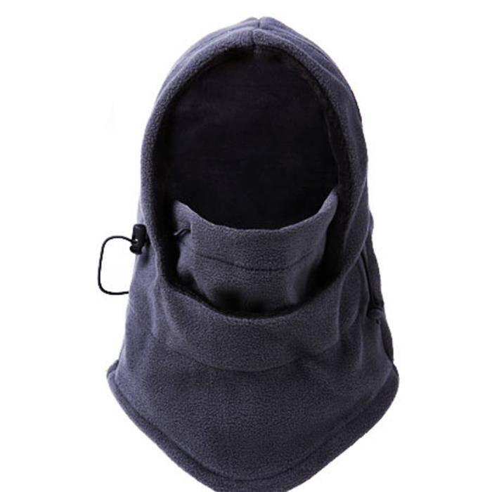 bonnet cagoule de moto v lo femme homme gris protection anti froid hiver gris achat vente. Black Bedroom Furniture Sets. Home Design Ideas