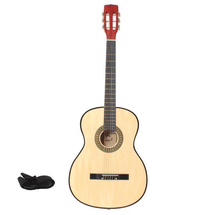 lmp guitare classique naturel 99 cm sangle m diator. Black Bedroom Furniture Sets. Home Design Ideas