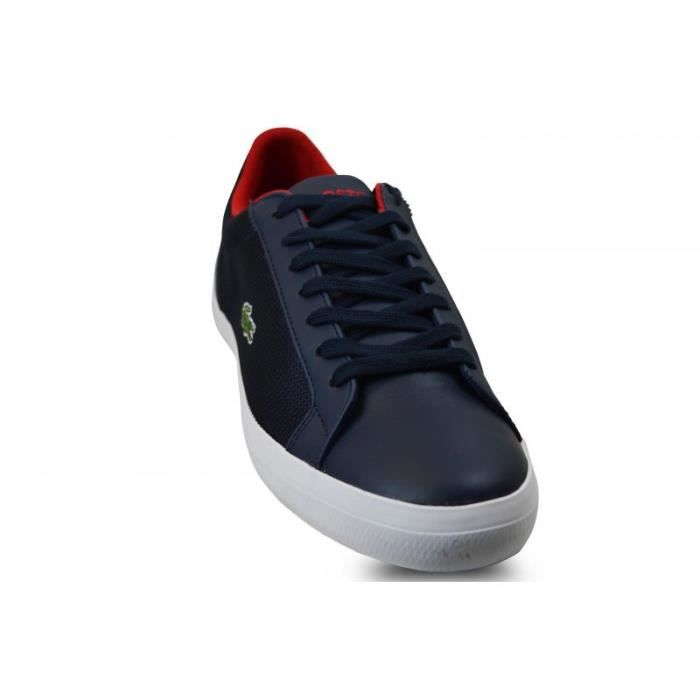 Chaussure Lacoste Bleu Marine Homme