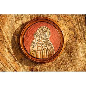 assiette d corative en bois achat vente objet d coration murale cdiscount. Black Bedroom Furniture Sets. Home Design Ideas