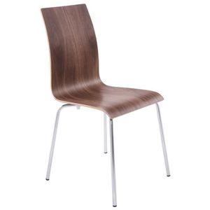CHAISE Chaise de salon ou de cuisine Noyer ESPERA