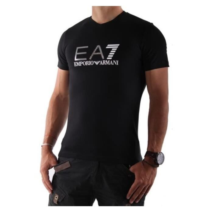 armani t shirt noir homme m noir achat vente t shirt 8034148239611 cdiscount. Black Bedroom Furniture Sets. Home Design Ideas