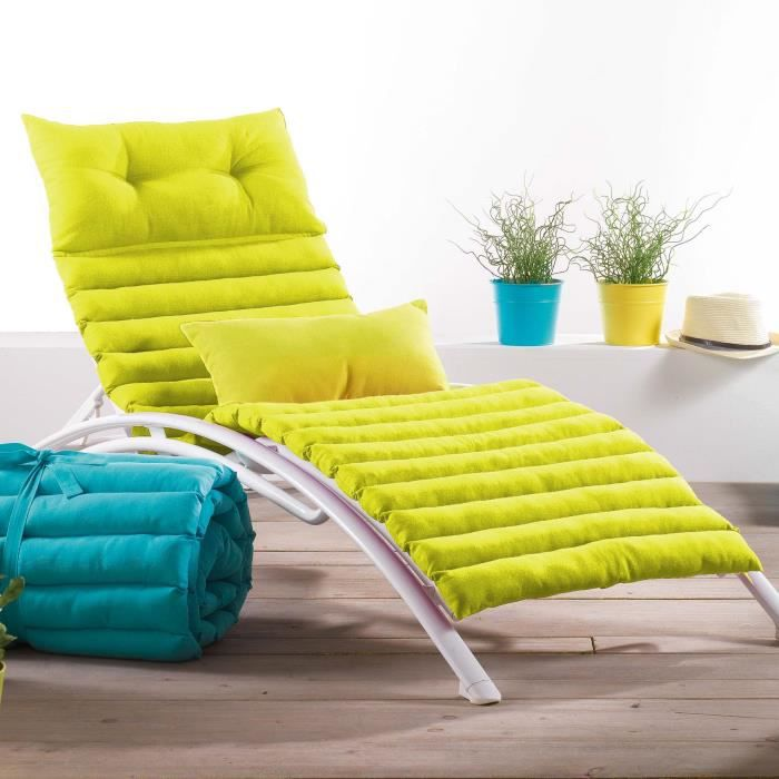 coussin bain de soleil 60x180 gransol anis achat vente. Black Bedroom Furniture Sets. Home Design Ideas