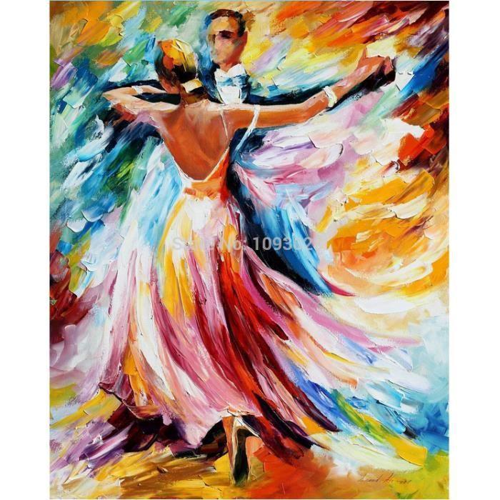 Pipihua 100 peint la main peinture l 39 huile ballet couloir m nages d - Tableau peinture al huile ...