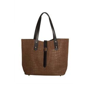 SAC SHOPPING Sac à main shopping en cuir effet croco pour femme