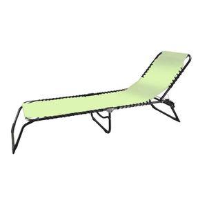 Chaises longues bains de soleil a roues achat vente for Chaise soleil et transat
