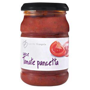 Franprix sauces tomates et pancetta 190g