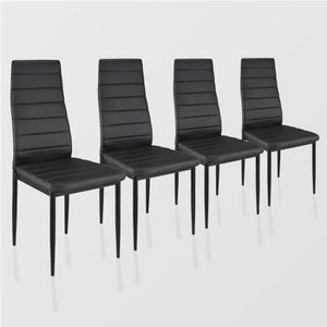 Chaise noir lot de 4 achat vente chaise noir lot de 4 - Chaise salle a manger pas cher lot de 4 ...