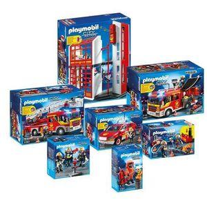 Playmobil city action les pompiers achat vente - Caserne pompier playmobil pas cher ...