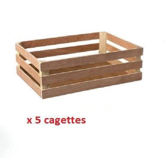 Lot de 5 cagettes en bois decoratif achat vente vide - Trouver des cagettes en bois ...