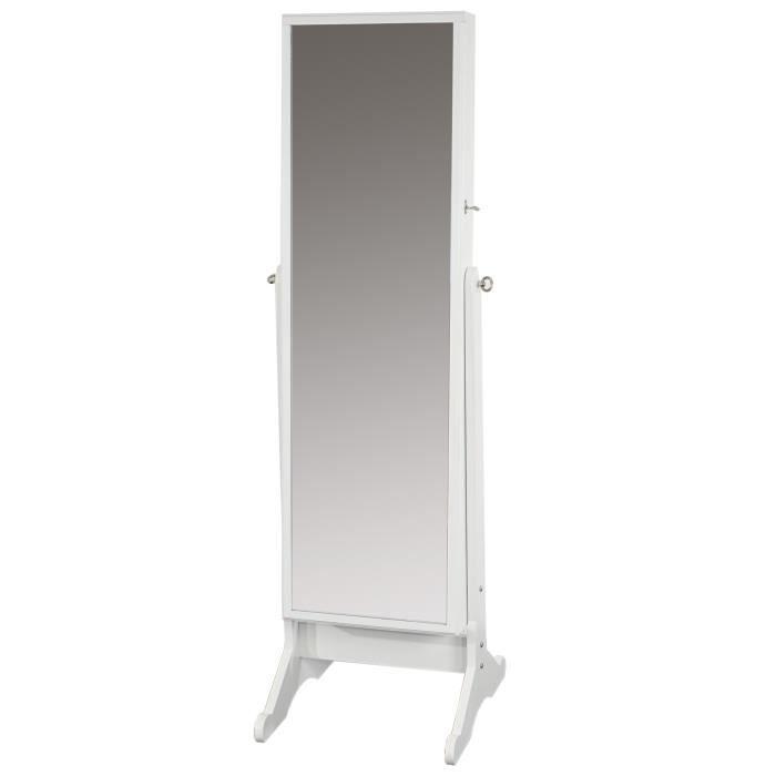 armoire bijoux blanc avec miroir placard achat vente commode semainier armoire bijoux. Black Bedroom Furniture Sets. Home Design Ideas