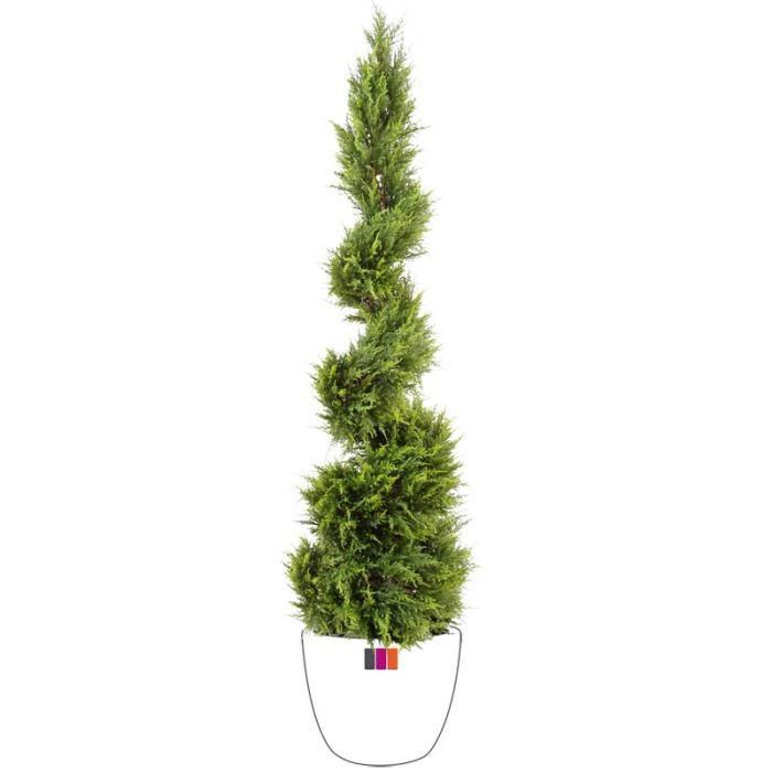 Cypres spirale 160cm plante artificielle ext rieur achat for Achat plante