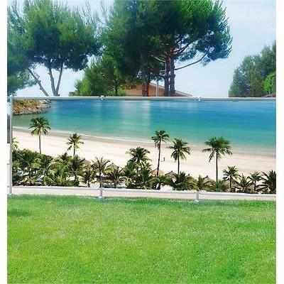 Brise vue d co personnalis jardins terrasses et balcons plage palmier r f 3609 occultation - Soldes brise vue ...