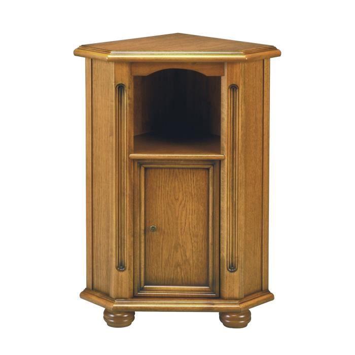 Meuble d 39 angle1 niche 1 porte en bois massif achat for Meuble 1 porte bois