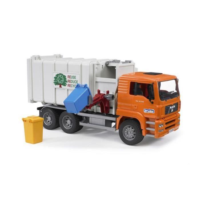 camion poubelle man de bruder. Black Bedroom Furniture Sets. Home Design Ideas