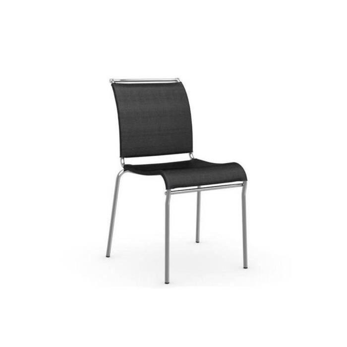 Chaise italienne air en tissu coloris noir de calligaris for Chaise qui ne prend pas de place