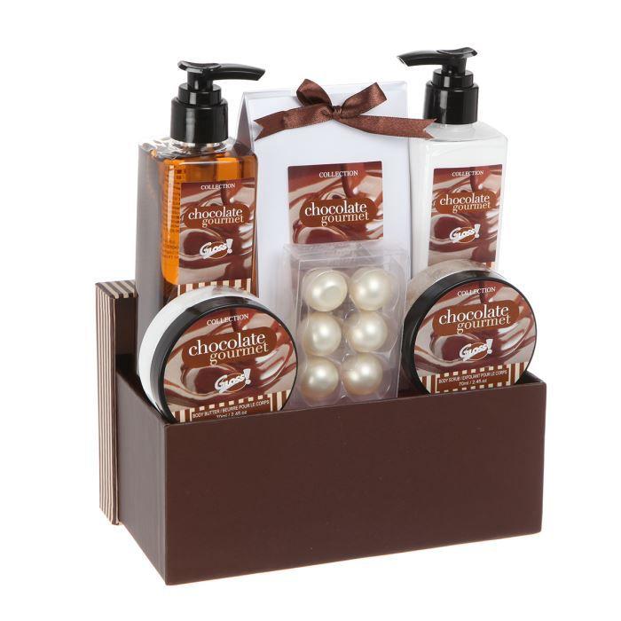 Coffret de bain chocolate gourmet chocolat achat for Coffret salle de bain