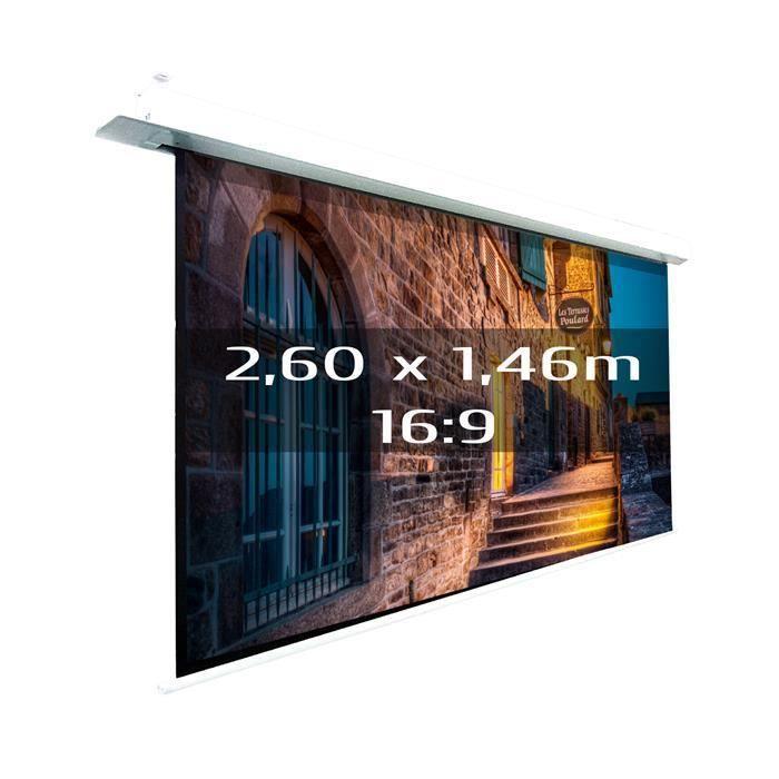 ecran projection lect encastrable 2 60x1 46m ecran de projection avis et prix pas cher. Black Bedroom Furniture Sets. Home Design Ideas