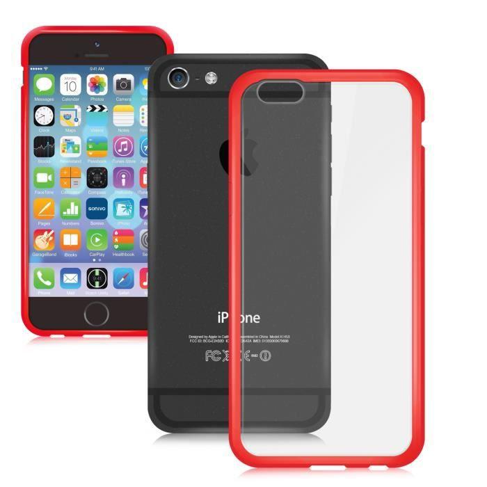 sonivo coque fusion iphone 6 4 7 bordure rouge achat coque bumper pas cher avis et meilleur. Black Bedroom Furniture Sets. Home Design Ideas