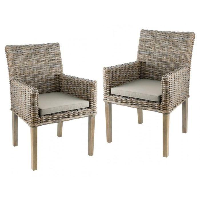 lot de 2 fauteuils chaises repas en kubu pieds achat vente fauteuil vert cdiscount. Black Bedroom Furniture Sets. Home Design Ideas