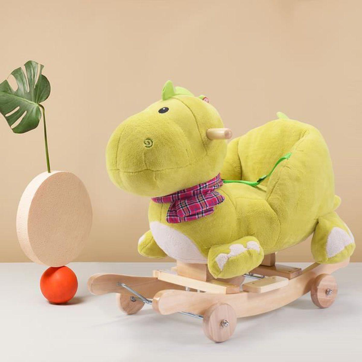 cheval bascule jouet pour b b balan oire peluche sonore pluieurs animaux achat vente. Black Bedroom Furniture Sets. Home Design Ideas