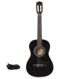 GUITARE LMP Guitare classique noir 92 cm + sangle + médiat