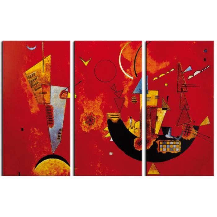 vassily kandinsky poster reproduction sur toile tendue sur ch ssis pour et contre 1929 3. Black Bedroom Furniture Sets. Home Design Ideas